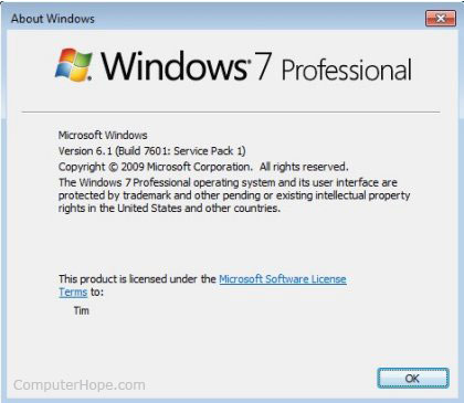 What version of windows do I have,