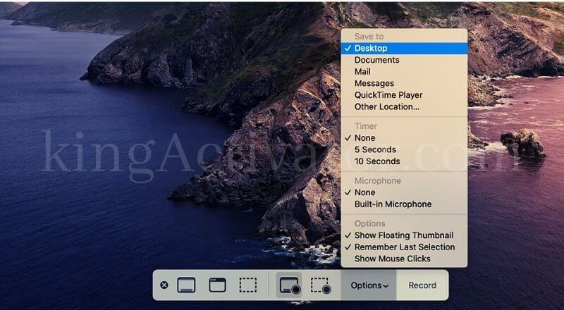 Change location of your saved on mac