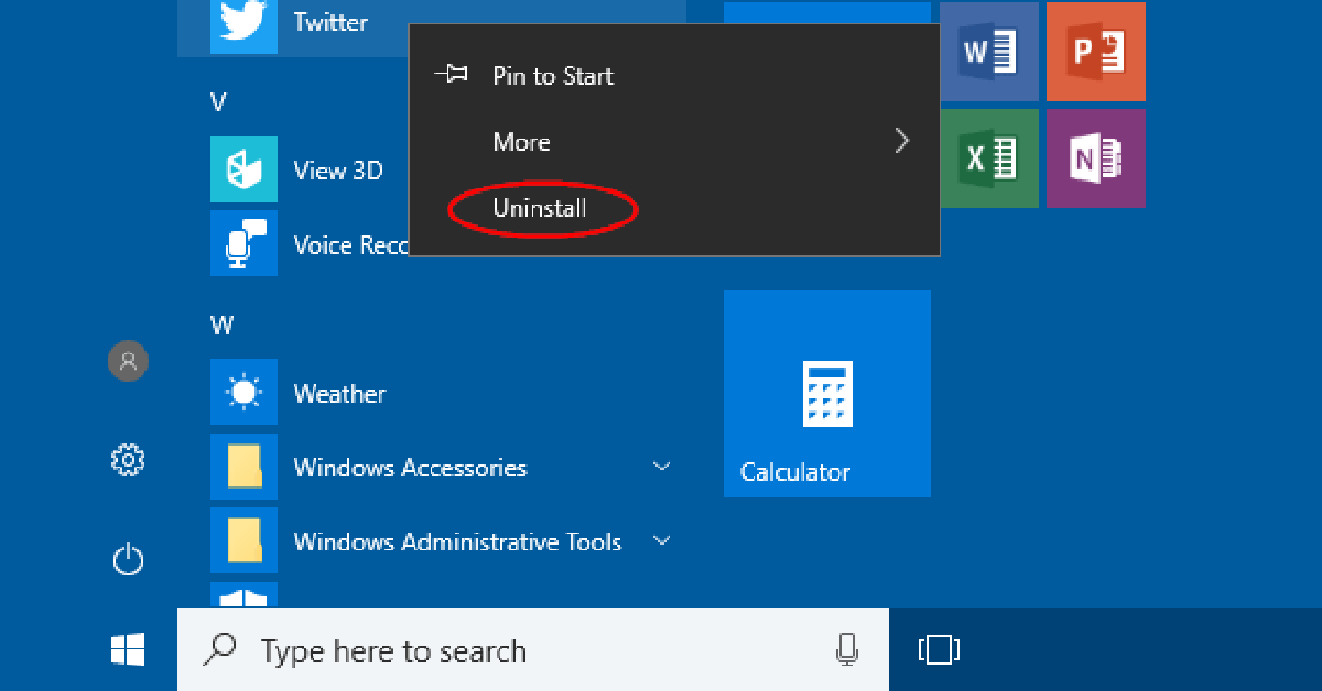 how to uninstall apps on windows 10
